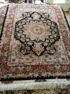 قالیچه تک مشکی خطیبی